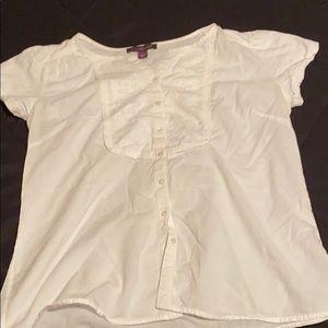 Gloria Vanderbilt cotton embroidered top (L)